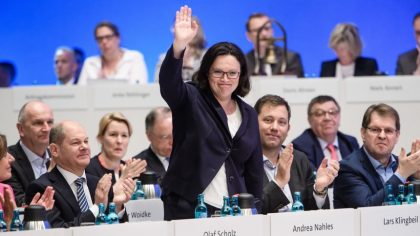Germania: Andrea Nahles prima donna presidente dell'Spd
