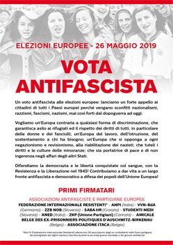 ANPI. VOTA ANTIFASCISTA. L'APPELLO